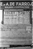 """מודעת """"להשכיר"""" על לוח עץ, תל אביב – הספרייה הלאומית"""