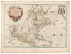 A New Mapp of America Septentrionale Designed by Mousieur Sanson, Geographer to the French King, and rendred into English, and illustrated by Richard Blome, Francis Lamb sculp – הספרייה הלאומית