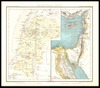 Palaestina und Syrien : Physikalische u Historische Karte / Entworfen u.gez. v. H. Lange . Druck u.Colorit von George Westermann – הספרייה הלאומית