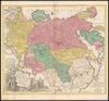 Spatiosissimum imperium Russiae Magnae iuxta recentißimas Observationes Mappa Geographica accuratißime delineatum opera et sumptibus Tobiae Conradi Lotteri.