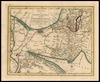 Nieuwe en Naauwkeurige Kaart van het Steenachtige Arabie Waar in de Reis & standptaatzen der Israelieten door de Woestyne worden aangeweezen.