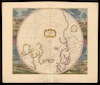 Poli Arctici, et circumiacentium terrarum descriptio novissima Per Fredericum de Wit.