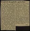ברגבור, פרנץ – הספרייה הלאומית