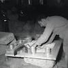 רפאל וידאל, ארכיאולוג תורכי, מתקן מוזאיקה שנמצאה בבית אלפא: