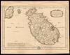Les isles d Malte, Goze;Par N. Sanson d'Abbeville.