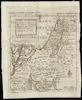 Carta geografica che mostra il viaggio nel Deserto e la Conquista e Divisione della Terra di Canaan fatta da Figliuoli d'Israele;Cepparuli Scul – הספרייה הלאומית