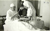 Eye surgery in Tripoli.:CAHJP Photo Collections -- British OSE (Œuvre de Secours aux Enfants) Society - Old Photographs 1947 - 1975 -- Libya.