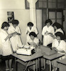 ORT Algeria. Learning stenography in the secretarial course.:CAHJP Photo Collections -- ORT Photo Collection -- Algeria.
