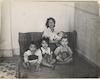 """""""Hygiene et Habitation dans la Hara-Tunis - La famille et l'unique lit de la chamber"""". CAHJP Photo Collections -- British OSE (Œuvre de Secours aux Enfants) Society - Old Photographs 1947 - 1975 -- Tunisia."""