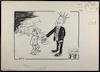 קלינטון כובל את שרוליק מלסייע לצפון [קריקטורה ללא כותרת] – הספרייה הלאומית