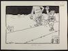 סדאם בועט בעולם החופשי בדרך לירושלים [קריקטורה ללא כותרת].