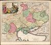 Ukrania quae et Terra Cosaccorum;cum vicinis Walachiae, Moldaviae, Minorisque Tartariae Provinciis /;exhibita à Ioh. Baptista Homanno.