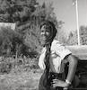 נערה במושב מסילת ציון בפרוזדור ירושלים.