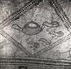 פסיפס שנתגלה בבית הכנסת הקדום בבית אלפא.