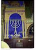 Synagogue in Mediaș - Prayer hall Eastern wall, menorah to the south of the Torah ark – הספרייה הלאומית