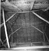 Great Synagogue in Ostroh (Ostrog), photos 1994 (black and white) Interior, roof, view from the North – הספרייה הלאומית