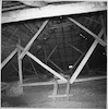 Great Synagogue in Ostroh (Ostrog), photos 1994 (black and white) Interior, roof, view from the West – הספרייה הלאומית