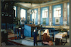 Great Synagogue (Hoykhe Shul) in Botoşani - Main prayer hall - Bimah – הספרייה הלאומית