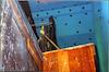 Torah ark in the Synagogue in Bayonne (St. Esprit) Behind Torah ark – הספרייה הלאומית