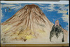 Sgan-Cohen, Mountain Acrylic and stretched canvas on unstretched canvas – הספרייה הלאומית
