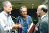 The Fifth International Seminar on Jewish Art, 1996 Prof. Rainer Stichel (left), Prof. Beat Brenk (center), Prof. Herbert L. Kessler, at the Open Ceremony of the Fifth International Seminar on Jewish Art – הספרייה הלאומית