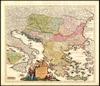 Fluviorum in Europa principis Danubii Cum Adiacentibus Regnis nec non totius Graeciae Et Archipelagi Novißima Tabula;Authore Joh. Baptista Homanno.