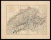 General-Charte der Schweiz;in XIX Cantone abgetheilt /;Gez. u. gest. v. J. Scheurman – הספרייה הלאומית