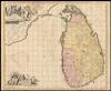 Insula Ceilon et Madura, exactissimè delineate et nuperrimè;edita per R. and J. Ottens.