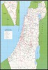 Map of the Kibbutzim in Israel; Federation of the Kibbutz Movements.