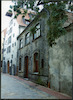 Buildings around the Peitavas Synagogue in Riga Backstreet – הספרייה הלאומית