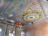 Synagogue in Novoselytsia - Interior Ceiling and eastern wall – הספרייה הלאומית