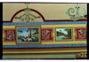Rebbe's Kloyz in Buhuşi - Main prayer hall - Ceiling decoration Paintings – הספרייה הלאומית