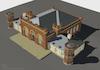 3D computer model of the Rebbe's Kloyz in Sadhora (Sadigora) 3D computer model – הספרייה הלאומית