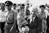 David Ben Gurion returned from France after he participated the funeral of the late President De Gaulle – הספרייה הלאומית