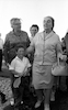 PM Golda Meir visiting the Golan Hights.: