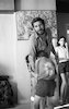 Actor Haim Topol at home with his children.
