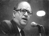 Abba Eban addressing.