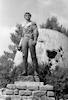 The famous statue at Yad Mordechai.: