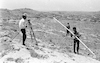Surveying for new Jewish settlements in Judea near Hebron.: