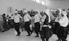 A cast dancing their native Debka dance – הספרייה הלאומית