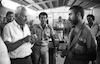 Interior Minister Haim Bar-Lev visiting Ramle prison.