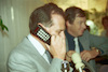 The Motorola Company encovered its first mobile telephone to Communication Minister Amnon Rubinstein.