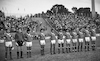 The German Olympic soccer team holding a game against Israel winning 1:0 Photo- shows tthe Israeli Olympic team – הספרייה הלאומית