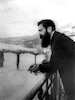 The famous photographs of Theodor Herzl on the balcony in Bazel, Switzerland.