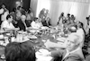 YITZHAK SHAMIR HOLDS FIRST CABINET MEETING.