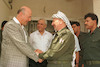 A Mapam delegation headed by Party Chairman Hanan Erez met PLO Chiaman Yasser Arafat at his headwuarters in gaza City.