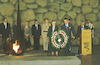 Prince Philip - husband of Queen Elizabeth II - and his sister Princess Sophie laying a wreath at Yad Vashem, October 31 1994.