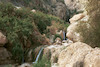 The Shulamit Waterfall in Ein Gedi the source of which is the Nahal David river.