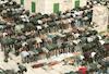 תפילות מוסלמיות והפגנות בהר הבית בעקבות טבח גולדשטיין בחברון.: – הספרייה הלאומית