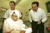 Senior adviser to Yasser Arafat Israeli Arab Dr. Ahmed Tibi, The political advisor to PLO leader Yasser Arafat visited the Children Centre in the Belinson Hospital.